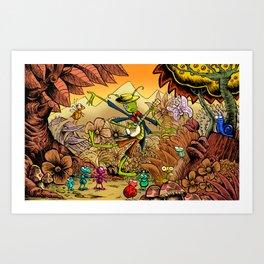 Grasshopper Blues Art Print