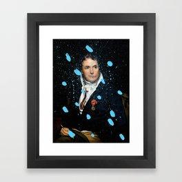 Brutalized Portrait of a Gentleman Framed Art Print