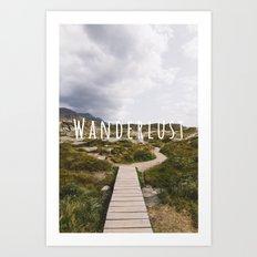 Wanderlust w/ Type Art Print