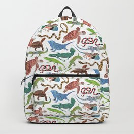 Endangered Reptiles Around the World Backpack