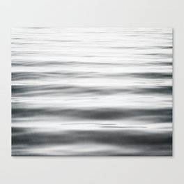 Black and White Water Ripple Photography, Grey Ocean Wave Art, Gray Sea Waves, Neutral Modern Photo Canvas Print
