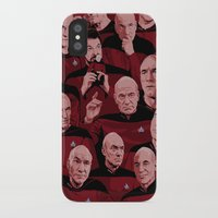 picard iPhone & iPod Cases featuring Picard Day by Brian J. Smith