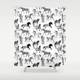 Horse Freckles - Appaloosa animal print pattern Shower Curtain