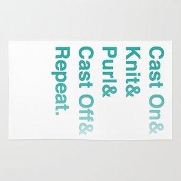 Knitting - Helvetica Ampersand Style Rug