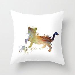 Cat art Throw Pillow