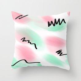 80s pastel leotard Throw Pillow