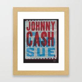 Johnny Cash A Boy Named Sue Framed Art Print