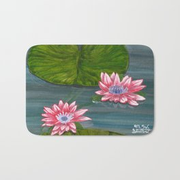 Water Lilies 2 Bath Mat
