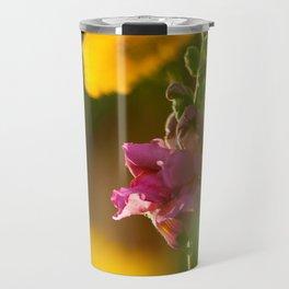 Pink Snapdragon Flower Travel Mug