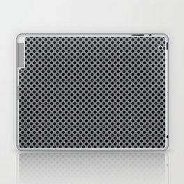 Sharkskin and Black Polka Dots Laptop & iPad Skin