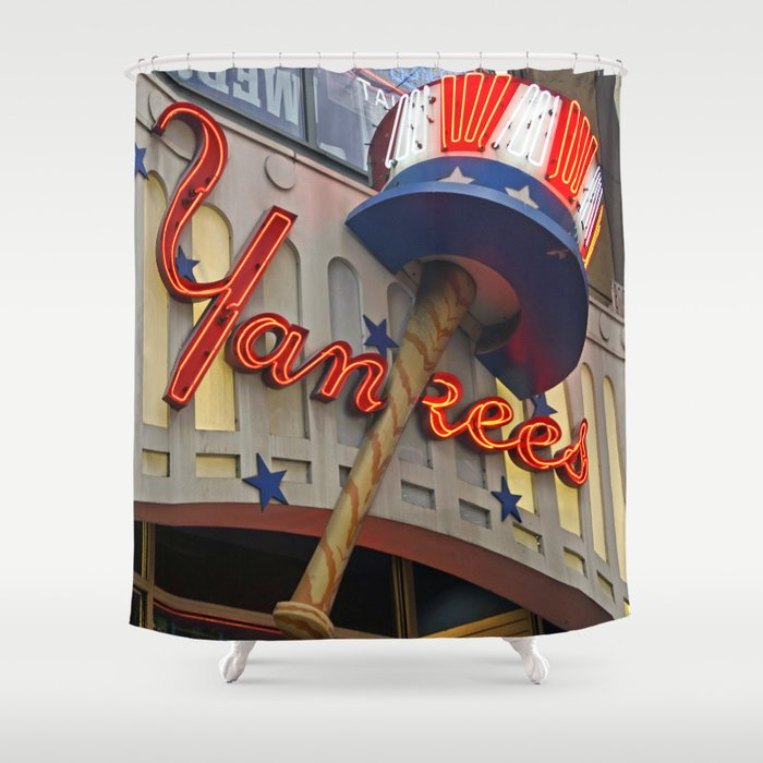 New York Yankees Clubhouse Shower Curtain