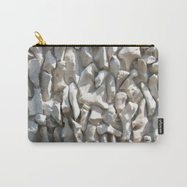 Weathered wall made of stones and cement Carry-All Pouch