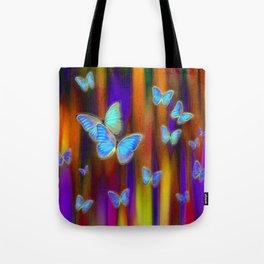 Silken Wings, Rainbow. Tote Bag