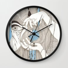 Small blue thing Wall Clock