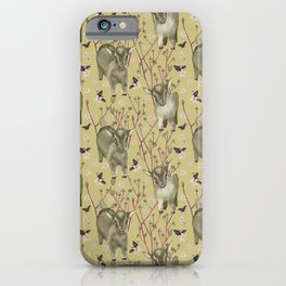 Little goats in spring iPhone Case