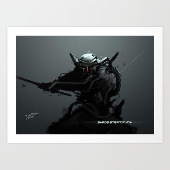 Shade Steampunk Art Print