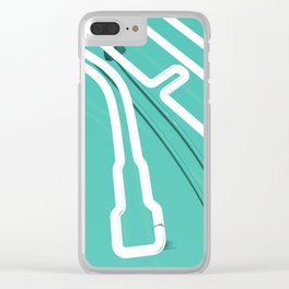 Neon Turntable 3 - 3D Art Clear iPhone Case
