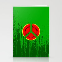 watermelon Stationery Cards featuring Watermelon by mailboxdisco