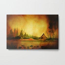 Amber Landscape Metal Print
