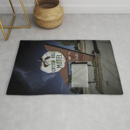 Cotton Boll Motel Sign Route 66 Rug