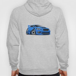 Import Sports Sedan Cartoon Illustration Hoody