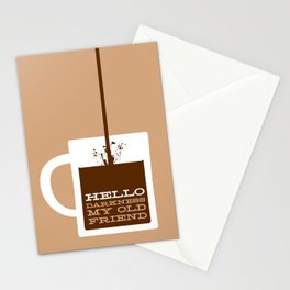 Hello Darkness My Old Friend Stationery Cards