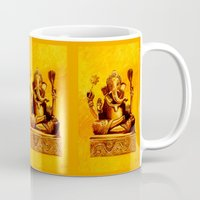 ganesha Mugs featuring Ganesha by Ninamelusina