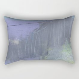 shadow diver abstract painting Rectangular Pillow