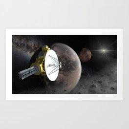 New Horizons flyby Pluto into Kuiper belt Art Print