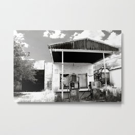 abandoned gas station in texas Metal Print