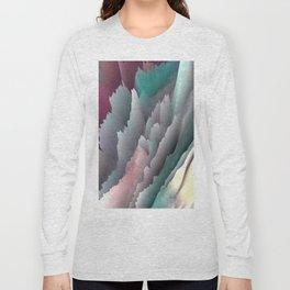 Jagged Jasper Mountains - Abstract Art by Fluid Nature Long Sleeve T-shirt