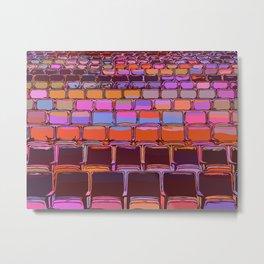 Colorful Pop Art Theater Auditorium Metal Print