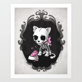 Bone Kitty Art Print