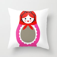 Matrioska-006 Throw Pillow