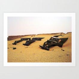 Desert Skeletons Art Print