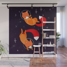 Space Foxes Wall Mural