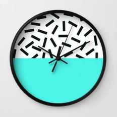 Memphis pattern 18 Wall Clock