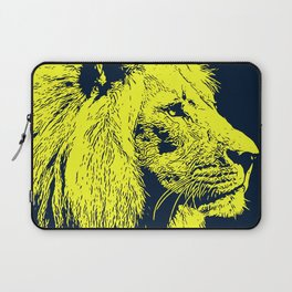 Lion, King of Nature - Yellow Portrait Laptop Sleeve