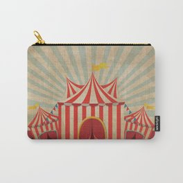 Shabby Circus Tent Retro Vintage Kitschy Carry-All Pouch