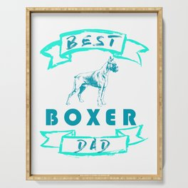 Best Boxer Dad Dog Father Serving Tray