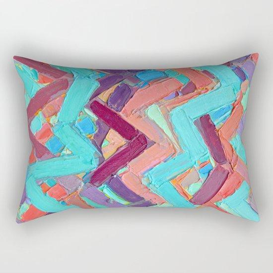 Summer Paths No. 1 Original Rectangular Pillow