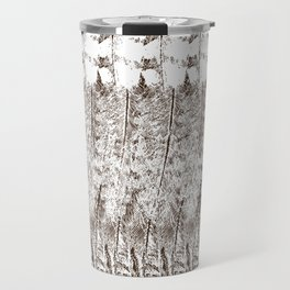 Feather Pattern | Bird Feathers | Brown and White | Travel Mug