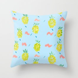 Pineapples Squiggle Throw Pillow