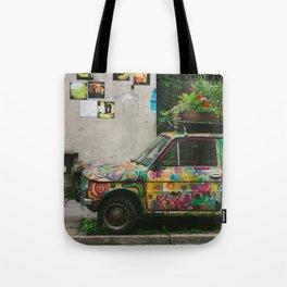 Funky Car Tote Bag