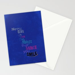 """Never Give Up..."" Inspirational Poster  Stationery Cards"