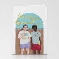 pulp fiction Stationery Cards featuring Pulp Fiction by Vannia Palacio