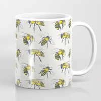 bees Mugs featuring Bees by Tracie Andrews