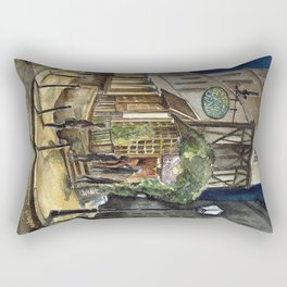 Postcards from Paris - Montmartre by Night: Le Basilic Brasserie Rectangular Pillow