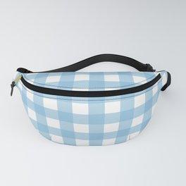 Light Blue & White Gingham Pattern Fanny Pack