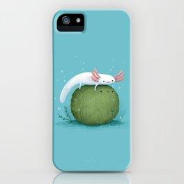 Axolotl on a Mossball iPhone Case